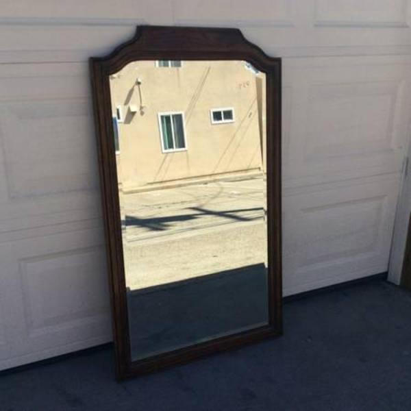 Solid Wood Frame Wall Mirror By Drexel Loveseat Vintage Furniture San Diego