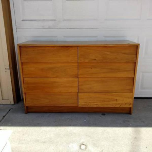 Retro Solid Wood 8 Drawer Dresser Loveseat Vintage Furniture San Diego