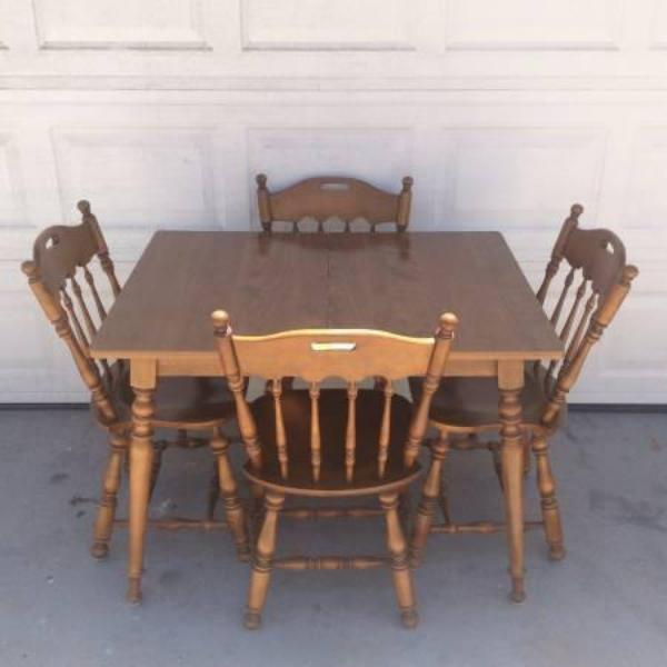 allen solid wood dining set w leaf 180 00 this ethan allen dining