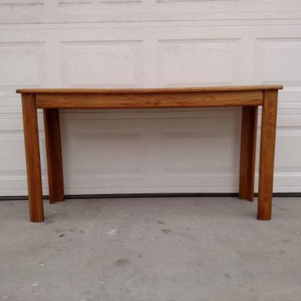 Solid Oak Vintage Sofa Console Table Loveseat Vintage Furniture San Diego Los Angeles