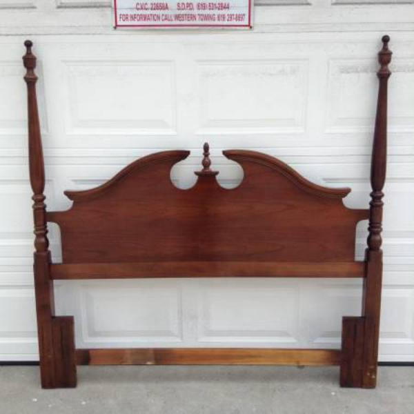Solid Wood Quot Thomasville Quot Vintage Queen Headboard