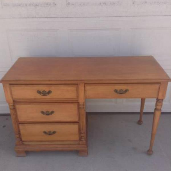 Solid Wood Vintage Pine Desk By Quot Ballman Cummings