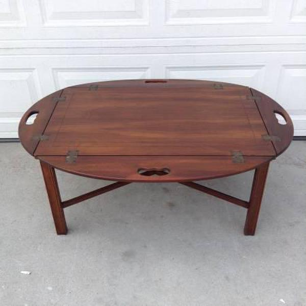 Butler Style Wooden Coffee Table Loveseat Vintage Furniture San Diego Los Angeles