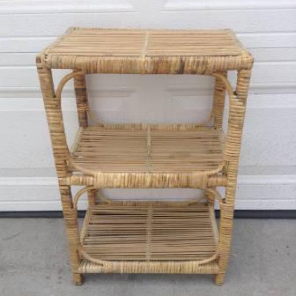 Small Rustic Woven Wicker Shelf
