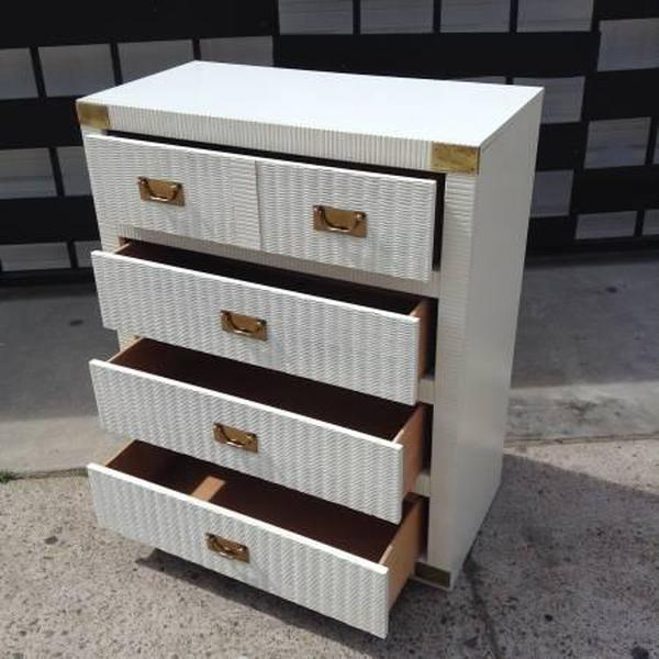 tall white tropical 4 drawer dresser by lea loveseat vintage furniture. Black Bedroom Furniture Sets. Home Design Ideas