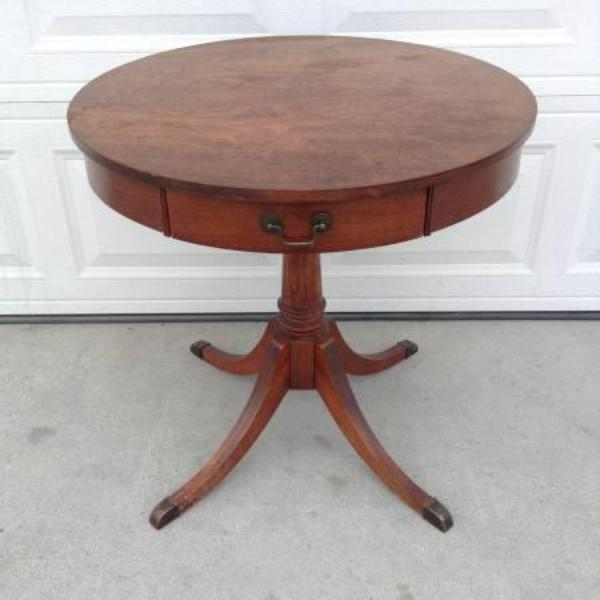 Solid Wood Round Cocktail End Table By Quot Mersman