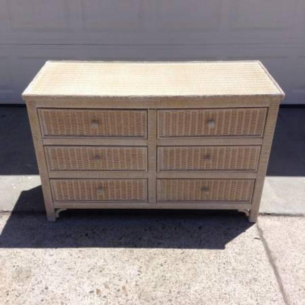 Quot Henry Link Quot Wicker 6 Drawer Dresser Loveseat Vintage