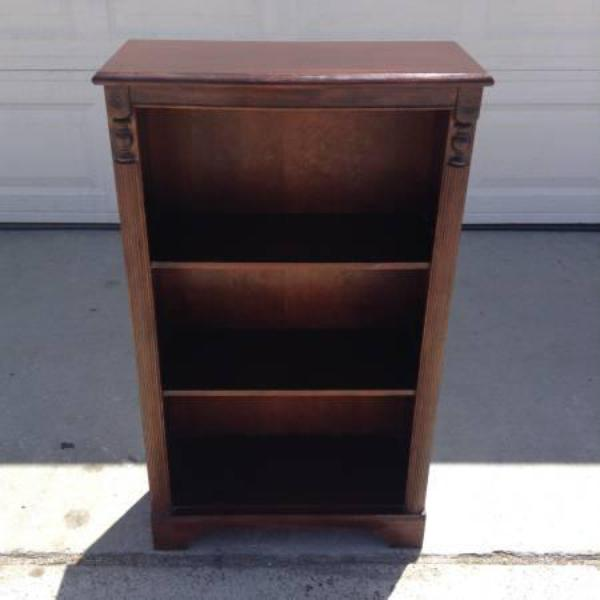 Quot Ethan Allen Quot Solid Wood Bookcase W 3 Shelves Loveseat Vintage Furniture San Diego